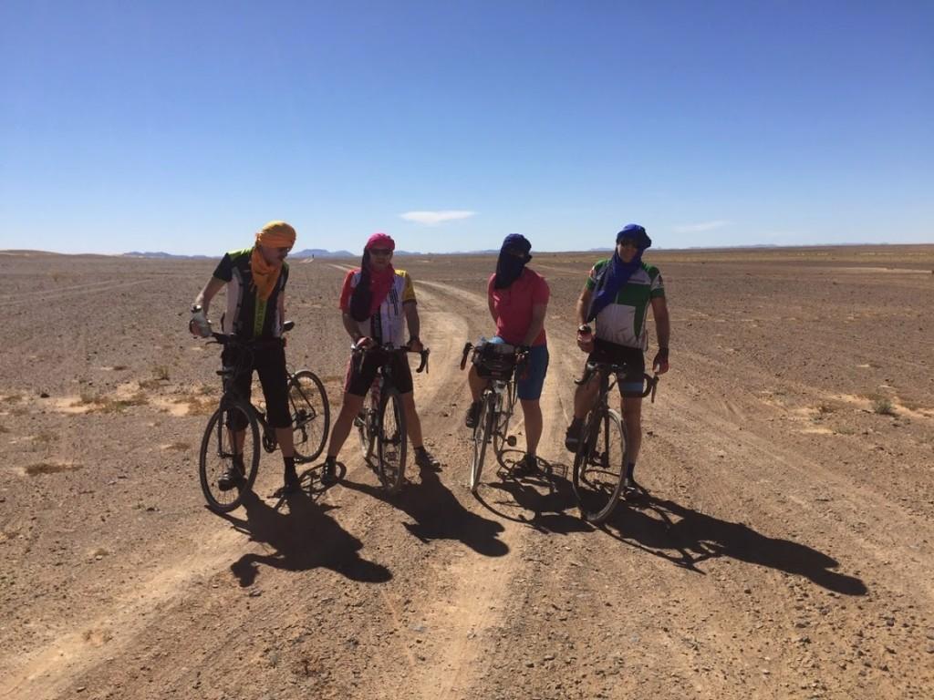 cycling to the Sahara and the Erg Chebbi dunes