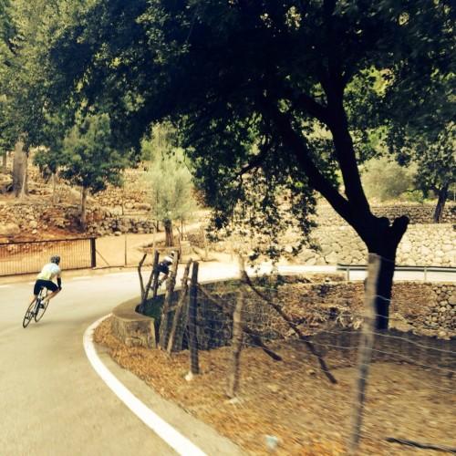 cycling the sa calobra climb in Majorca
