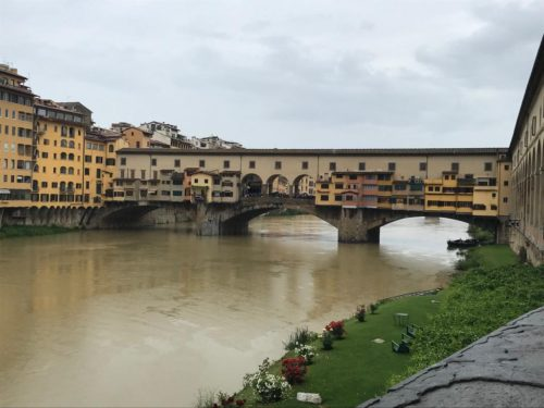 Cycling to Florence on our ride across Italy