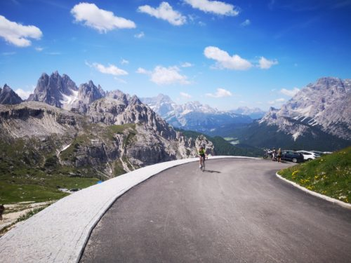 Cycling the Tre Cime di Lavaredo