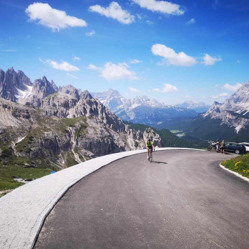 Cycling the Tre Cime di Lavaredo