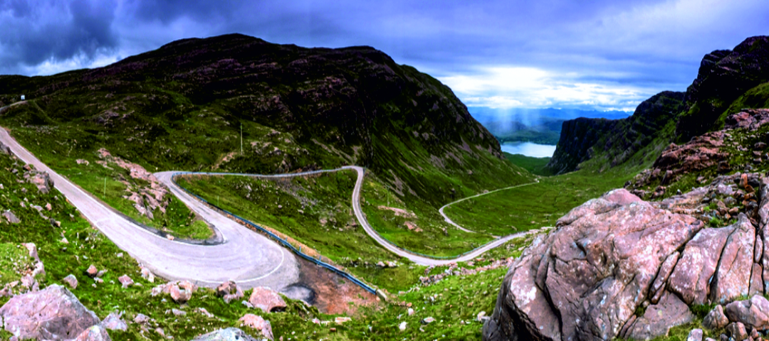 The most beautiful and breathtaking cycling pass road of the Highlands and the United Kingdom... Applecross Pass
