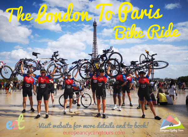 Cycle London to Paris in 3 days on our organised and fully supported London To Paris bike ride